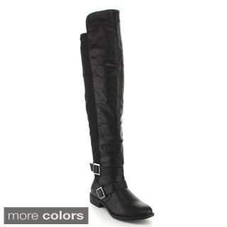 Top Moda Women's 'Polly-7' Knee-high Riding Boots