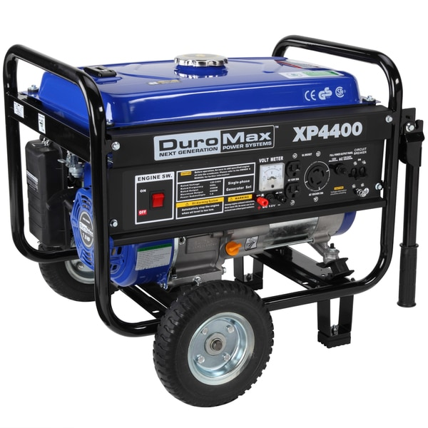 DuroMax RV Grade 4400 Watt 7.0 Hp CARB Approved Gas Generator with Wheel Kit