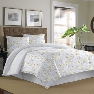Tommy Bahama Newport Silver Blue Cotton 3-piece Duvet Cover Set