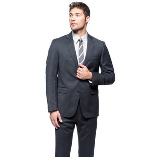 Calvin Klein Navy Wool Suit