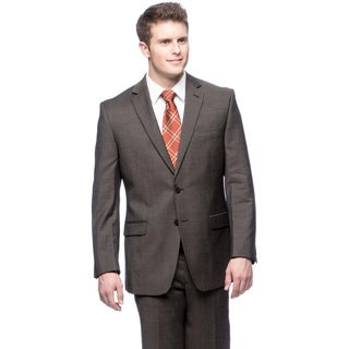 Calvin Klein Brown Wool Suit