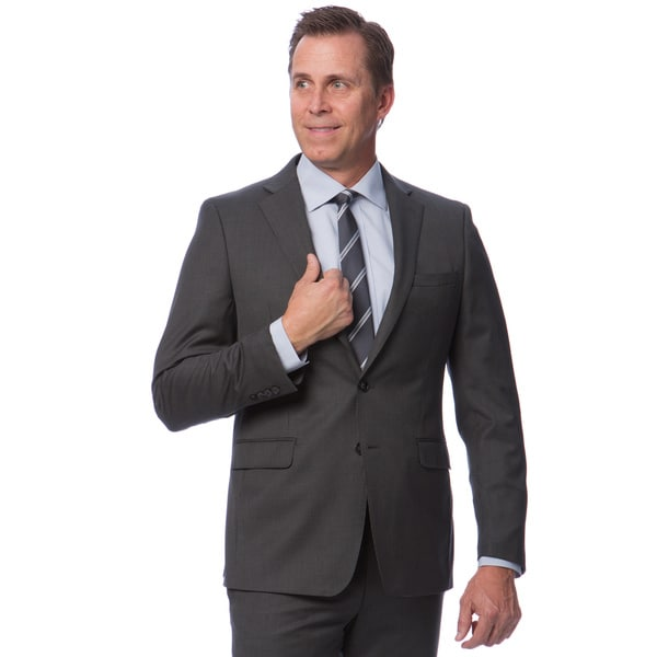 Calvin Klein Grey Wool Suit