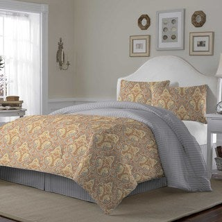 Laura Ashley Megan Paisley Cotton 3-piece Duvet Cover Set