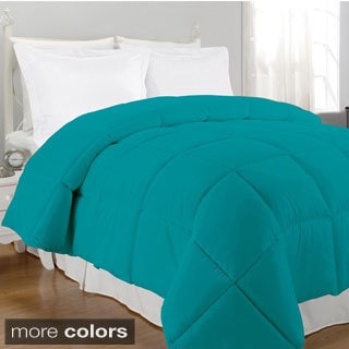 Bright Solid Color Microfiber Down Alternative Comforter