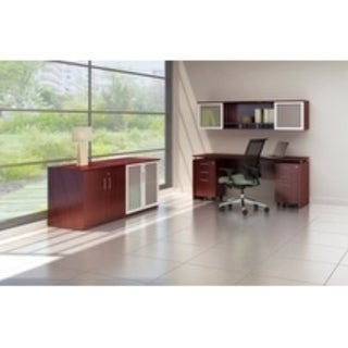 Bestar Embassy Collection Laminate Double Pedestal Office