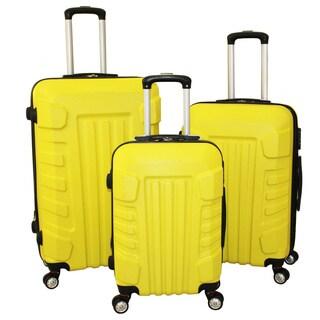 World Traveler Regis 3-piece Hardside Spinner Luggage Set With Combination Lock