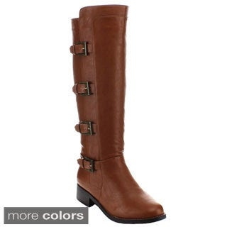 Bonnibel Women's 'Hans-1' Bucked Knee-high Riding Boots