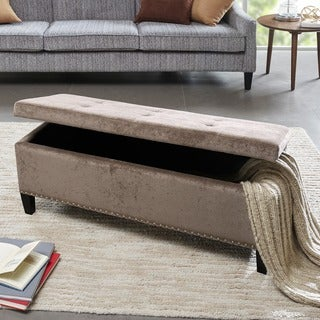 Madison Park Shandra II Bench Storage Ottoman with Tufted Top