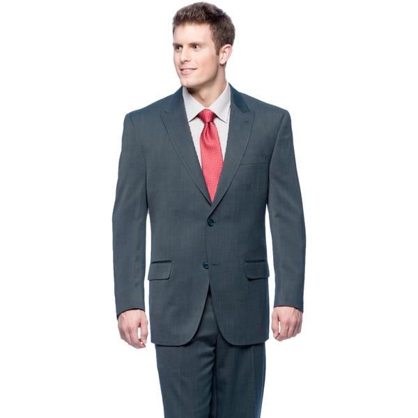 Sean John Men's Blue Double-vented Suit
