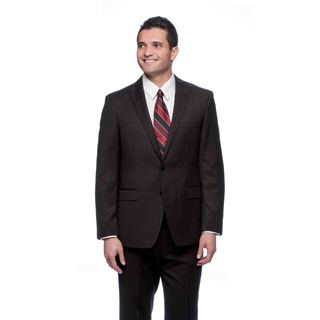 Tahari Men's Black Pinstripe Wool Suit