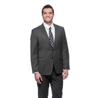 Tahari Men's Dark Grey Wool 2-button Suit