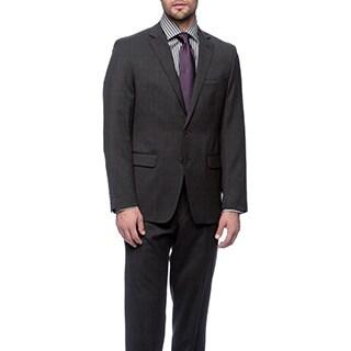 Tahari Men's Charcoal Wool Suit