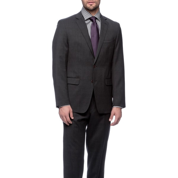 Tahari Men's Charcoal Wool Suit