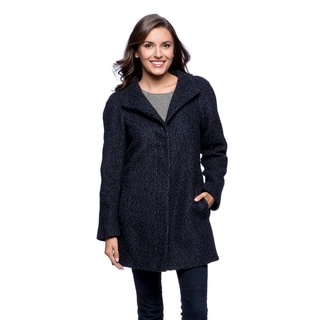 Anne Klein Women's Blue and Black Tweed A-line Pantcoat