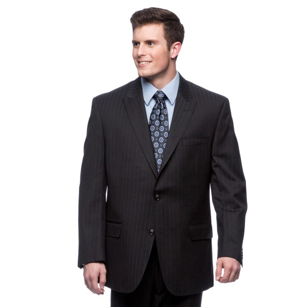 Sean John Black/ Blue Pinstripe Suit