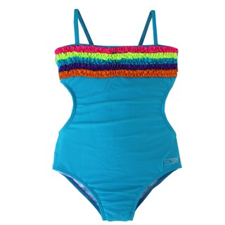 Azul Swimwear Girl's Blue Chasing Rainbows Monokini