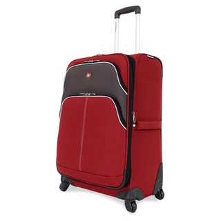 SwissGear Red 24.5-inch Expandable Spinner Upright Suitcase