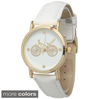 Olivia Pratt Women's In The City Bicycle Leather Watch