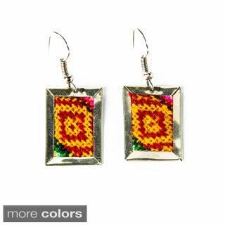 Short Deco Aguayo Earrings (Bolivia)