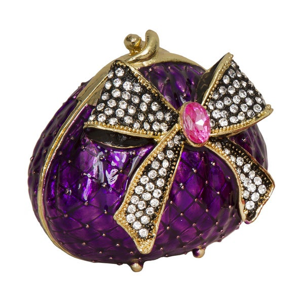 Ladies Purse in Purple Trinket Box