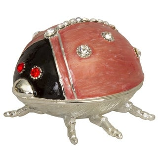 Pink Ladybug Trinket Box
