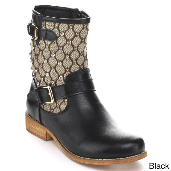 Miim Randy Stacked Heel Combat Boots