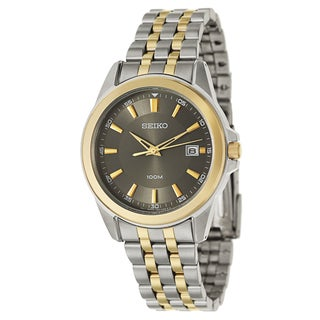 Seiko Men's Two-tone Stainless Steel and Yellow Goldplated Bracelet Watch