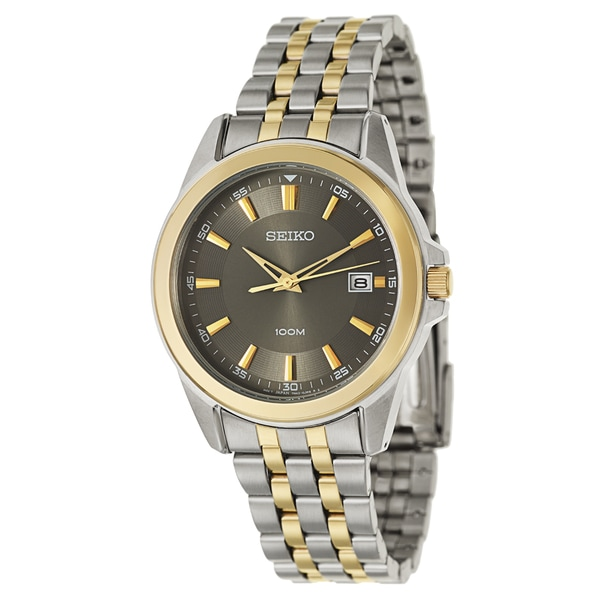 Seiko Men's Two-tone Stainless Steel and Yellow Goldplated Bracelet Watch 14084031