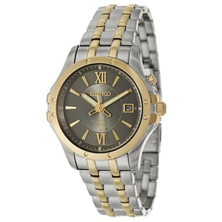 Seiko Men's SKA550P1 'Kinetic' Stainless Steel and Yellow GoldPlated Kinetic Powered Watch