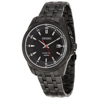 Seiko Men's SKA637 'Core' Stainless Steel Black Ionplated Kinetic Powered Watch