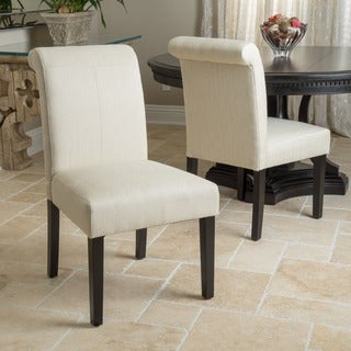 Christopher Knight Home Sidney Roll-Top Fabric Dining Chair (Set of 2)
