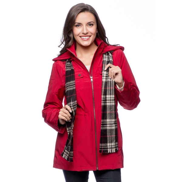 London Fog Missy Anorak Coat with Scarf