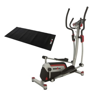 "IRONMAN H-Class 610 Smart Technology Elliptical Trainer with Bluetooth, 18"" Stride, Heart Rate Control and BONUS Equipment Mat"