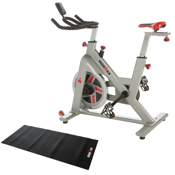 IRONMAN H-Class 510 Indoor Training Cycle with Digital Computer, Heart Rate System and BONUS Equipment Mat