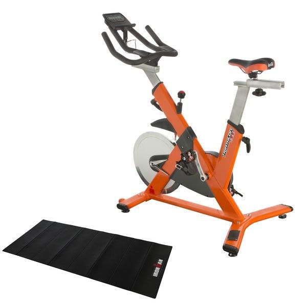 IRONMAN Triathlon X-Class 510 Smart Technology Indoor Training Cycle with Bluetooth, My Cloud Fitness Chest Belt & Equipment Mat
