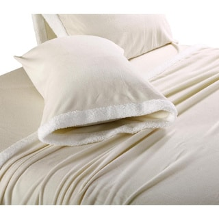 Micro Fleece Sheets with Sherpa Trim