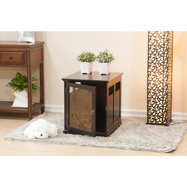 Fargo Small Dog Furniture/Table Crate by Elegant Home Fashions