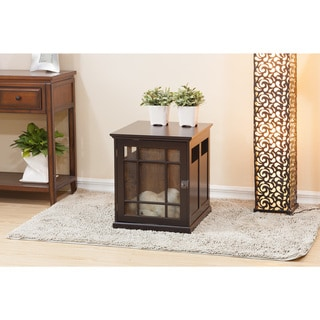Nate Espresso Furniture Dog Crate/ Side Table by Elegant Home Fashions