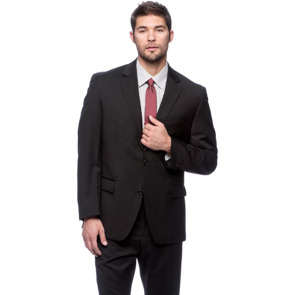 Michael Kors Men's Black Wool Suit