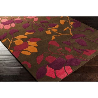 Hand-tufted Hilary Floral Wool Area Rug (2'6 x 8')