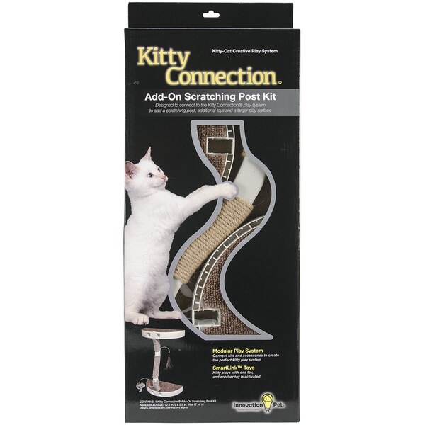 Kitty Connection Sisal Post & Toy Package-10.63X4.8X17in