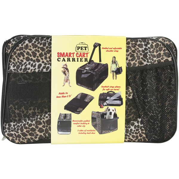 "Pet Smart Cart Carrier -Large 22""X4""X12""-Leopard"
