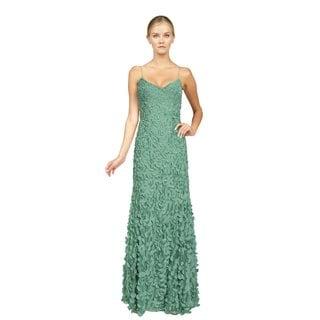 Theia Women's Jade Petals Evening Gown