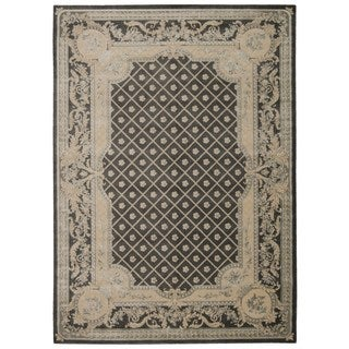 Michael Amini Platine Charcoal Area Rug by Nourison (7'6 x 10'6)