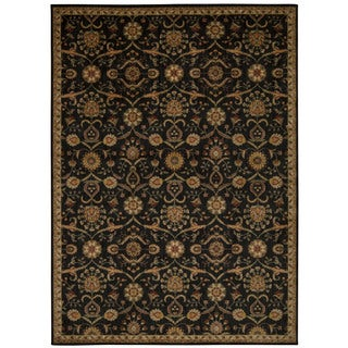 Kathy Ireland by Nourison Ancient Times Black Area Rug (5'3 x 7'5)
