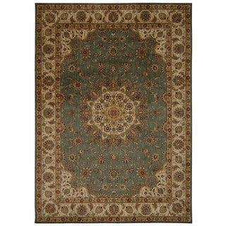 Kathy Ireland by Nourison Ancient Times Teal Area Rug (5'3 x 7'5)