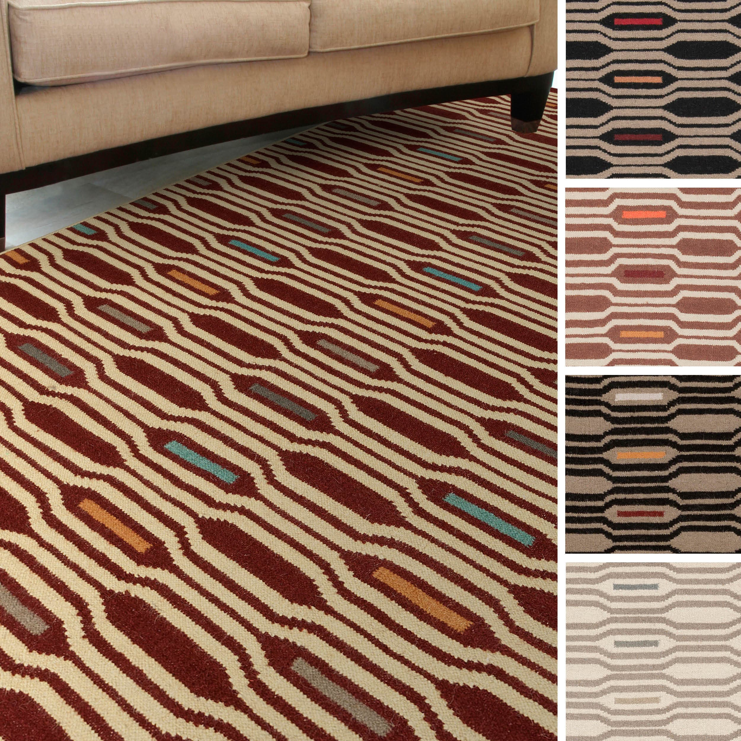 Overstock.com Leon Flatweave Geometric Area Rug (3'6 x 5'6) at Sears.com