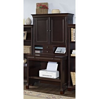 Mulberry Compact Computer Desk and Hutch