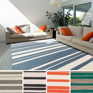 Olympia Flatweave Striped Area Rug (8' x 11')