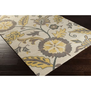 Hand-tufted Frieisan Floral Wool Area Rug (8' x 11')